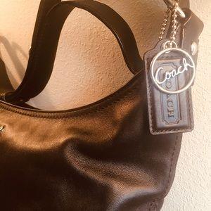 Authentic Coach Black Leather bag